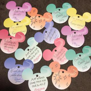 Disney - ディズニーランド 七夕短冊 飾り ミッキー型 メッセージカード メモ