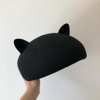 WEGO - 猫耳 ベレー帽 毛100%
