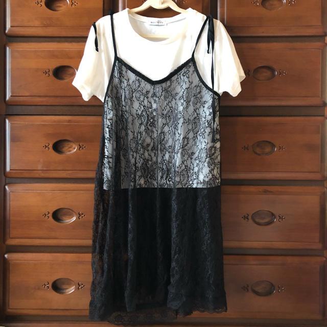 WEGO(ウィゴー)のTシャツ レース レディースのトップス(Tシャツ(半袖/袖なし))の商品写真