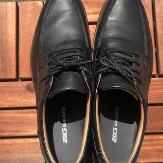 アシックス(asics)のアシックス ウォーキング ビジネス 散歩 革靴 黒 ブラック  (ドレス/ビジネス)