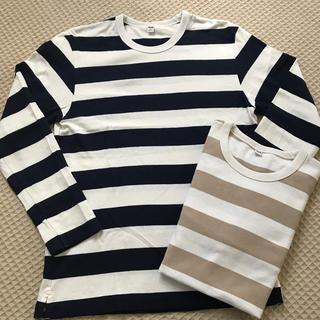 ユニクロ(UNIQLO)のUNIQLO 太ボーダー ロンT メンズS(Tシャツ/カットソー(七分/長袖))