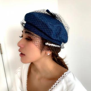 ザラ(ZARA)の新品・デニムチュールベレー帽・バースデーバッシュ (ハンチング/ベレー帽)