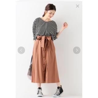 IENA SLOBE - 【美品】SLOBE IENA ハイカウントツイル フレアスカート
