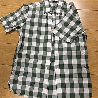 良品計画 メンズシャツ 白×緑 Sサイズ(シャツ)