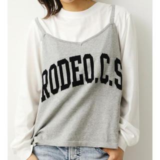 ロデオクラウンズワイドボウル(RODEO CROWNS WIDE BOWL)のお取り置き中につき購入不可 ロデオクラウン ニットキャミットL/S Tシャツ (Tシャツ/カットソー(七分/長袖))