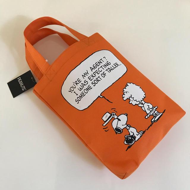 SNOOPY(スヌーピー)の新品*スヌーピー ミニトートバッグ / オレンジ レディースのバッグ(トートバッグ)の商品写真