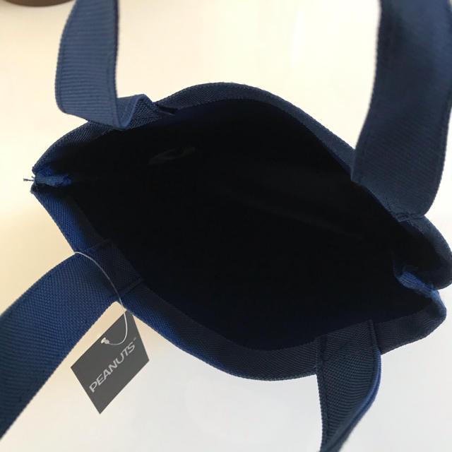 SNOOPY(スヌーピー)のまみ様専用☆新品*スヌーピー ミニトートバッグ / ネイビー レディースのバッグ(トートバッグ)の商品写真