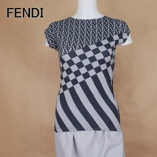 FENDI - FENDI フェンディ 40 ストレッチ ズッカ イタリア製 袖無しトップス