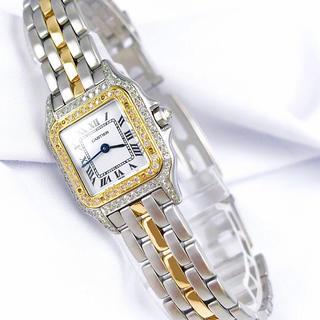 Cartier - 【仕上済】カルティエ パンテール コンビ ダイヤ 1ロウ レディース 腕時計