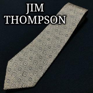 ジムトンプソン(Jim Thompson)のジムトンプソン スクエアデザイン ライトブラウン ネクタイ A103-R21(ネクタイ)