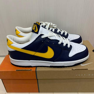 NIKE - DUNK LOW MIDNIGHT NAVY MED YELLOW-WIHTE
