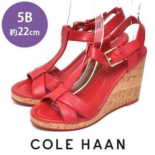 コールハーン(Cole Haan)のコールハーン コルクウェッジソール サンダル 5B(約22cm)(サンダル)