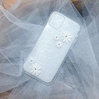 Apple - iPhone 11pro シンプル お花ケース ハンドメイド