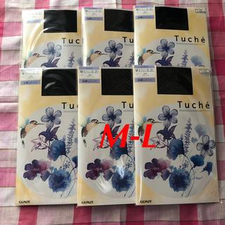 グンゼ Tuche ミニダイヤ ML 6足 ブラック