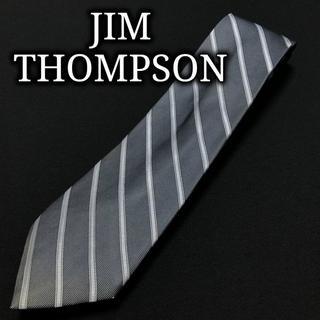 ジムトンプソン(Jim Thompson)のジムトンプソン レジメンタル ネイビー&スカイブルー ネクタイ A103-S02(ネクタイ)