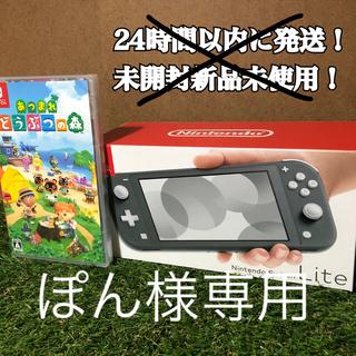 Nintendo Switch - Nintendo Switch Lite グレー あつまれ どうぶつの森 セット