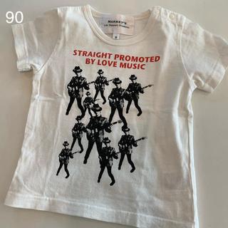 マーキーズ(MARKEY'S)の【美品】MARKEY'S  マーキーズ プリントTシャツ ミュージック 90cm(Tシャツ/カットソー)