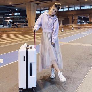 rienda - 最安値 rienda ボリュームチュールJ/WマキシSK ライトグレー