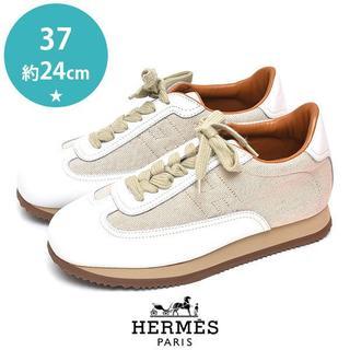 エルメス(Hermes)の新品❤エルメス 定価約12万 クイック キャンバス レザー レディーススニーカー(スニーカー)