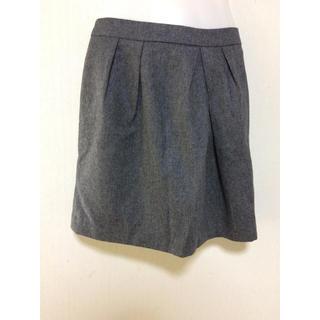 ナチュラルビューティーベーシック(NATURAL BEAUTY BASIC)のナチュラルビューティベーシック スカート レディース グレー 美品 上品 S(ミニスカート)