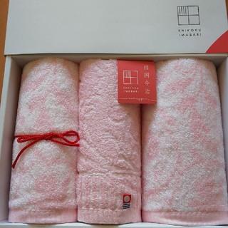 イマバリタオル(今治タオル)の今治タオル フェイス・ウォッシュ3枚セット ピンク(タオル/バス用品)