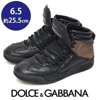 ドルチェアンドガッバーナ(DOLCE&GABBANA)のドルチェ&ガッバーナ ハイカット メンズ スニーカー 6.5(約25.5cm)(スニーカー)