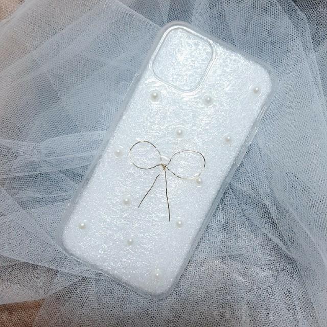 Apple(アップル)のiPhone 11pro スマホケース パールりぼん スマホ/家電/カメラのスマホアクセサリー(iPhoneケース)の商品写真