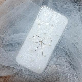 Apple - iPhone 11pro スマホケース パールりぼん