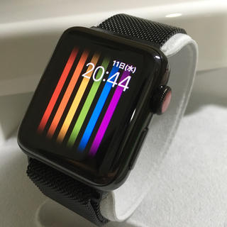 Apple Watch - Apple Watch series3 黒ステンレス アップルウォッチ セルラー