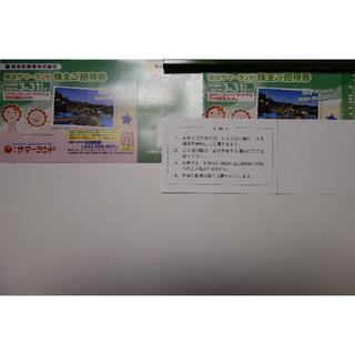 最新 2+8枚 サマーランド 東京都競馬 株主優待券【送料無料】(プール)
