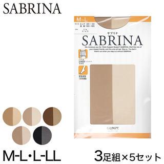Sabrina - 【15足セット】グンゼ サブリナ 透明感 素肌感 美脚パンスト ブラック M-L
