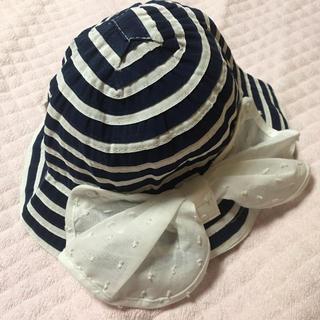 アカチャンホンポ - ベビー キッズ 帽子 ハット ボーダー リボン マリン 女の子 新品未使用