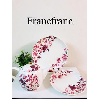 フランフラン(Francfranc)のFrancfranc ティーポット&プレート2枚セット 新品(食器)