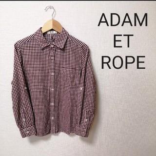 Adam et Rope' - 【美品】アダムエロペ シャツ ブラウス ギンガムチェック Mサイズ ラズベリー
