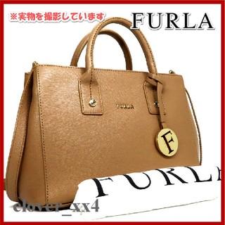 Furla - フルラ ショルダーバッグ 極美品 ブラウン リンダ FURLA 2way バッグ