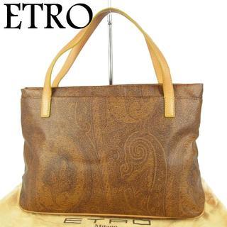 エトロ(ETRO)のエトロ ETRO ペイズリー PVC×レザー ハンド バッグ 保存袋付き(ハンドバッグ)
