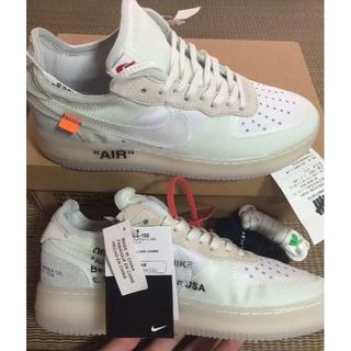 OFF-WHITE - 27cm THE 10 OFF WHITE × NIKE AIR FORCE 1