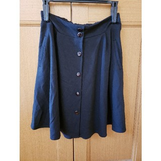 イングファースト(INGNI First)のINGNIファースト フレアスカート 140cm 黒 前ボタン 冠婚葬祭(スカート)