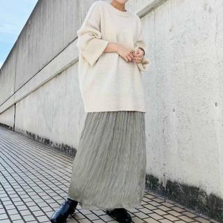 カスタネ(Kastane)のkastane サテンフィラメントスカート 新品未使用タグ付き 希少なグリーン(ロングスカート)
