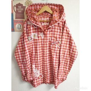 PINK HOUSE - PINKHOUSE ピンクハウス レトロ個性派古着長袖ゆるだぼシャツパーカー