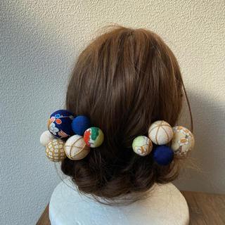 玉飾りの髪飾り【A5】(和装小物)