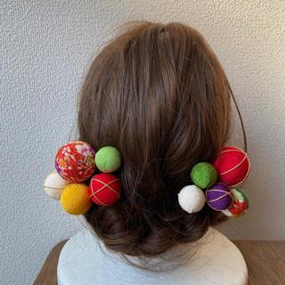 玉飾りの髪飾り【A6】(和装小物)
