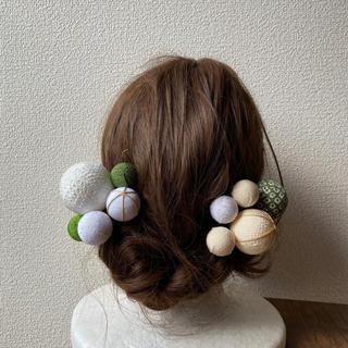 玉飾りの髪飾り【A7】(和装小物)