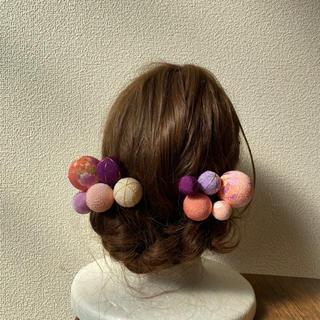 玉飾りの髪飾り【A8】(和装小物)
