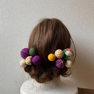 玉飾りの髪飾り【A9】(和装小物)