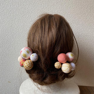 玉飾りの髪飾り【A10】(和装小物)