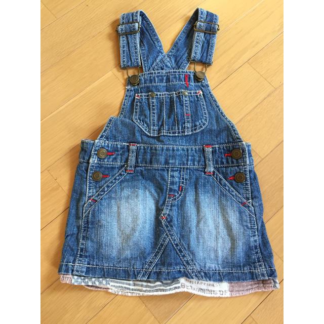 BREEZE(ブリーズ)のbreeze デニムジャンスカ 100 キッズ/ベビー/マタニティのキッズ服 女の子用(90cm~)(スカート)の商品写真