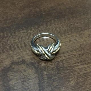 ティファニー(Tiffany & Co.)のtiffany シグネチャークロスリング silver 18K 9号(リング(指輪))