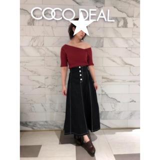 COCO DEAL - ココディール  配色ステッチバックレースアップハイウエストスカート
