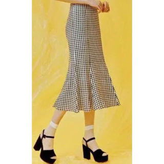 snidel - snidel♡ギンガムチェック♡マーメイドスカート♡チェック♡ロングスカート